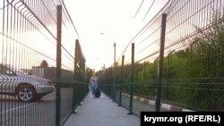 Админграница между аннексированным Крымом и Украиной. Чонгар, 18 августа 2015 года