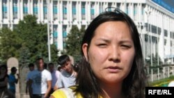 Қоғамдық белсенді Жанна Байтелова. Алматы, 17 тамыз 2009 жыл.