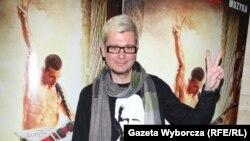 Лявон Вольскі на прэм'еры Жыве Беларусь! у Варшаве 17 красавіка 2013 году