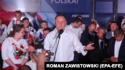 Președintele în funcție Andrzej Duda