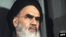 Ayatollah Ruhollah Khomeini in February 1979, shortly after his return from exile
