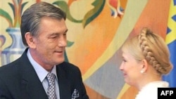 Виктор Ющенко заверяет Юлию Тимошенко, что его блок не собирается создавать коалицию с Партией регионов после выборов