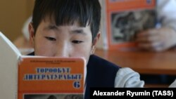Ресейдің Саха (Якутия) республикасындағы якут тілі сабағы