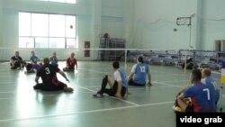 Российские паралимпийцы на тренировке.