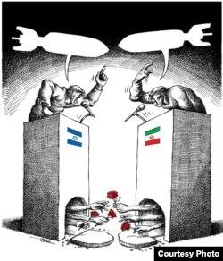 """""""Соғыс болмасын!"""" Мана Нейестани салған карикатура"""
