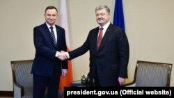 Анджей Дуда и Петр Порошенко, 13 декабря 2017 года