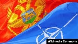 Zastava Crne Gore i NATO saveza
