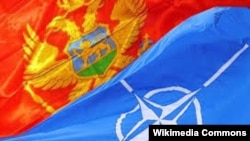 Zastave Crne Gore i NATO saveza