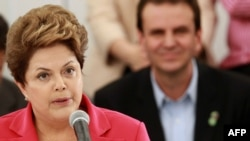"Brazilian President Dilma Rousseff said that spying ""is a breach of international law and as such it is an affront to the principles that should otherwise govern relations among countries."" (file photo)"