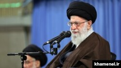 Iran's Supreme Leader Ayatollah Ali Khamenei has called on EU countries to offer Tehran guarantees that they can still fulfil their promises under the nuclear accord. (file photo)