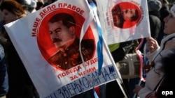 На пророссийском митинге в оккупированном Донецке, 2015 год