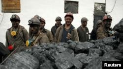 Робітники шахти «Холодна балка» в окупованій Макіївці, Донецька область, вересень 2016 року