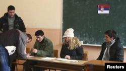 Pamje nga referendumi i serbëve në veri nëse i pranojnë institucionet e Republikës së Kosovës...