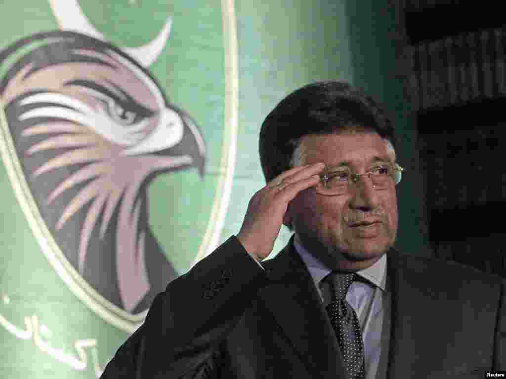 Pakistan's former general-cum-president, Pervez Musharraf, launches the All Pakistan Muslim League political party from exile in London on October 1, one day after he warned that a coup might be brewing in his homeland. Photo by Luke MacGregor for Reuters