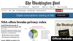 Ballina e gazetës Washington Post