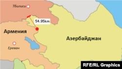 От места, где 12 июля на армяно-азербайджанской границе вспыхнули боестолкновения, до ТПП «Садахло»-Красный мост – 55 километров