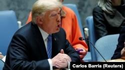Donald Trump na sjednici Vijeća sigurnosti UN-a u New Yorku, 26. septembar