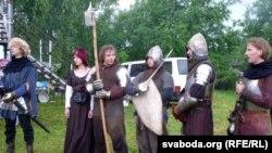 Рыцары пасьля выступу