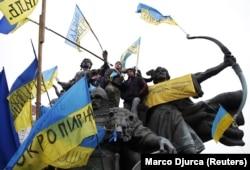 Під час Революції гідності в України. Київ, 15 грудня 2013 року