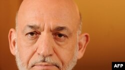 Afghan President Hamid Karzai pictured here at a press conference in London