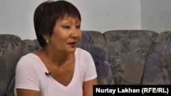 Балсулу Кисыметкызы, активист общества «Жолдастык», созданного в Астрахани этническими казахами. Алматы, 25 июня 2015 года.