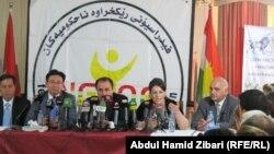 اربيل مؤتمر صحفي لمنظمة مهرجان السلام