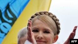 Юлия Тимошенко на митинге оппозиции в Киеве, 9 марта 2010