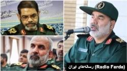 محمد کرمی، فرمانده قرارگاه قدس، و فرماندهان استانی تحت امرش؛ حسین معروفی و امانالله گرشاسبی