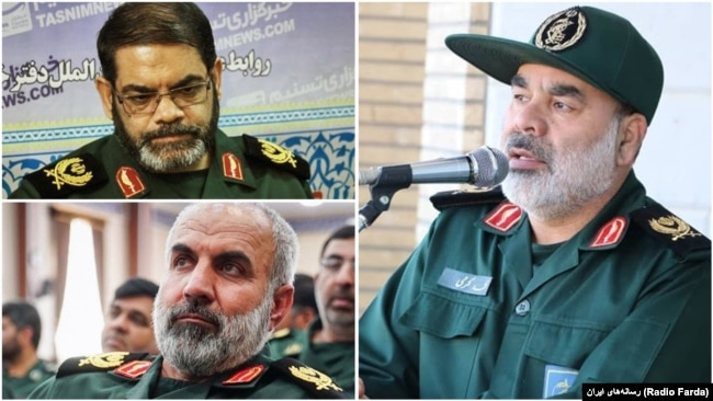 "The commander of IRGC's regional HQ in the southeast of Iran ""Qods"", Mohammad Karami and his under command provincial deputies Amanollah Garshasbi (Sistan & Baluchestan), and Hossein Maroufi (Kerman)."