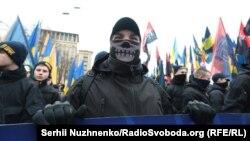 Учасники «Маршу національної гідності» у Києві, 22 лютого 2017 року