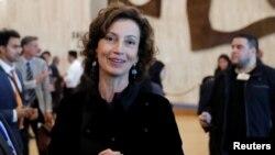 Бывший министр культуры Франции 45-летняя Одри Азуле, избранная новым генеральным директором ЮНЕСКО. Париж, 12 октября 2017 года.