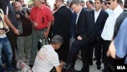 Претседателот Ѓорѓе Иванов во посета на Старата Чаршија.