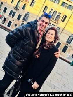 Мариолина Дориа де Дзулиани и Николай Цискаридзе, Венеция, 2018