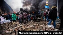 """O imagine a """"Maidan-ului"""" de la Kiev la 20 februarie 2014"""