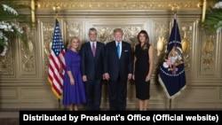 Donald Tramp i Hashim Thaçi sa suprugama u Njujorku