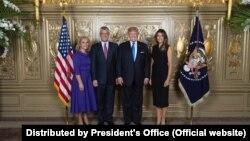 Presidenti Hashim Thaçi gjatë takimit me presidentin e SHBA-së, Donald Trump në. Fotografi nga arkivi.