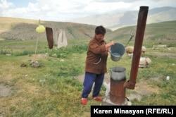 Ermənistanda yezidi kürd ailəsi