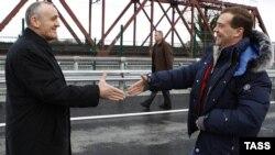 Президенты Абхазии и России, Фото из архива.