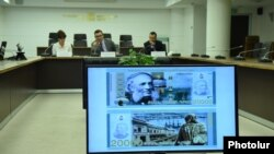 Armenia -- A presentation of the new composite banknotes of the third generation․ 22nov․, 2017