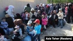 Сирийские беженцы в Ливане, апрель 2018