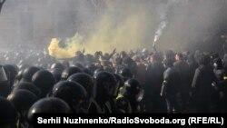 Під час сутичок у Києві, 9 березня 2019 року