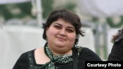 RFE/RL contributor Khadija Ismayilova, Baku, 16 Feb 2012.