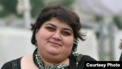 Азаттық радиосы Әзербайжан қызметінің журналисі Хадиджа Исмайлова. Баку, 16 ақпан 2012 жыл.