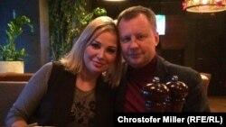 Денис Вороненков и его супруга Мария Максакова в Киеве
