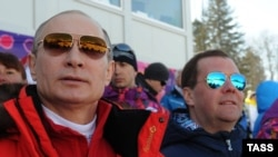 Путін і Медвєдєв на Олімпіаді-2014 у Сочі