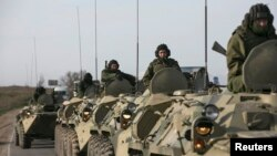 Russia has been accused of massing forces on Ukraine's borders.