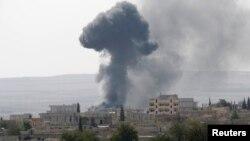 """Исломий Давлат"" гуруҳи жанггариларининг Кобани шаҳрига ҳужуми."