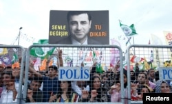 Демирташтың жақтастары. Стамбул, 17 маусым 2018 жыл.