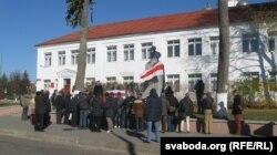 Ля помніка Кастусю Каліноўскаму