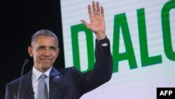 АҚШ президенті Барак Обама. Манила, Филиппин, 18 қараша 2015 жыл.